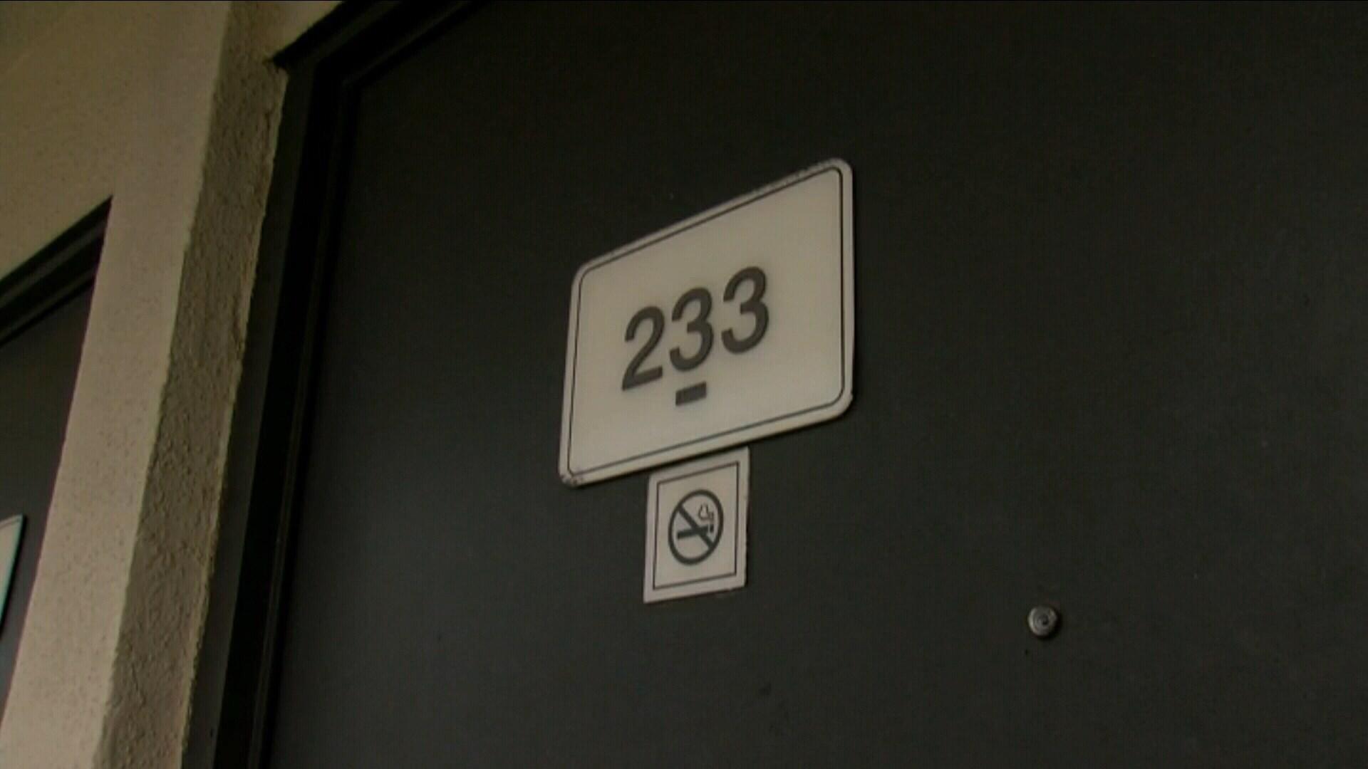 Weaver's motel room