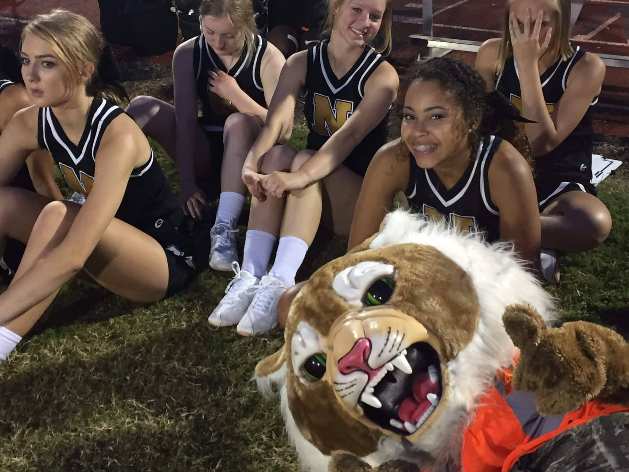The Neosho cheer squad witnessed a come-from-behind, 25-20 victory by the Wildcats over visiting Ozark tonight.