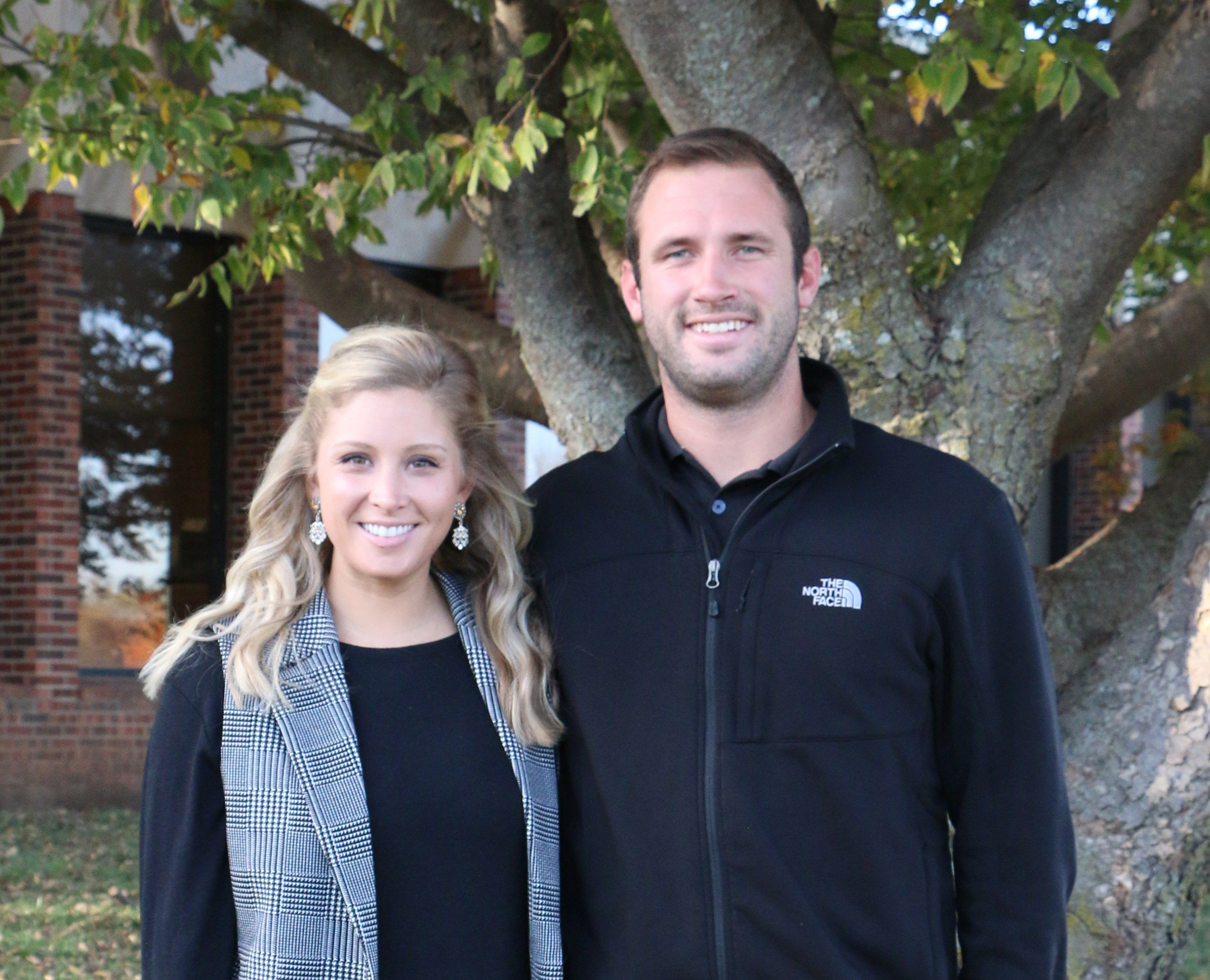 FSCC Head Football Coach Kale Pick poses with his wife, Geneva.