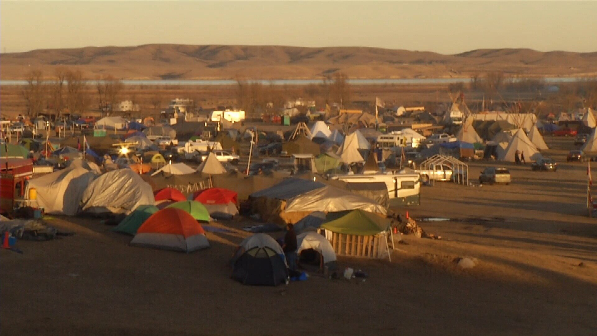 Standing Rock Tribe protesters