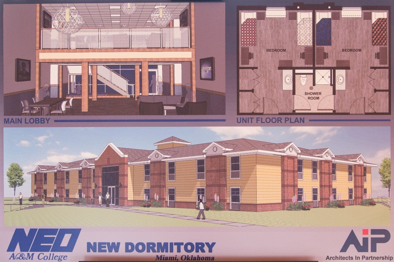 Renderings of the new suite complex