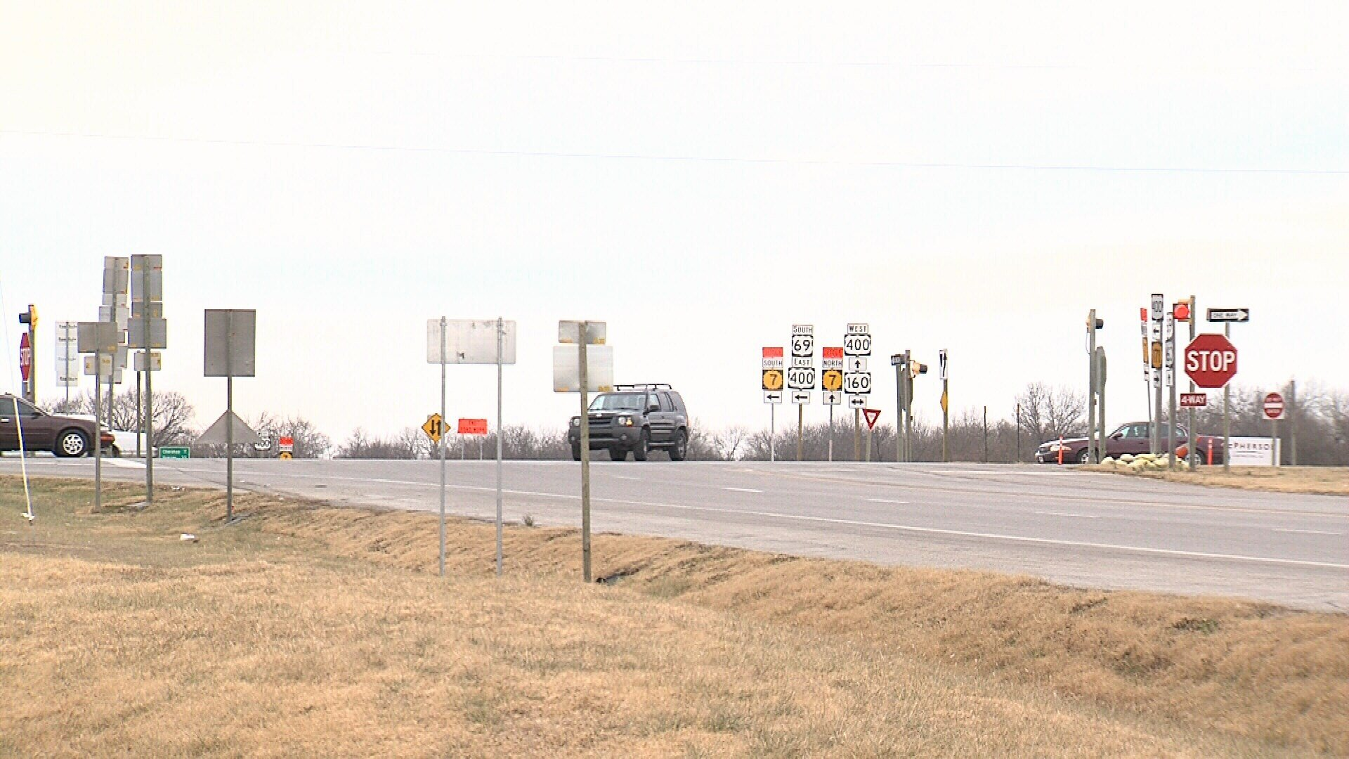 Highways 69, 171, 400 intersection