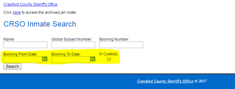 Show you the search fields so that you may look at the daily bookings or any date range you prefer.