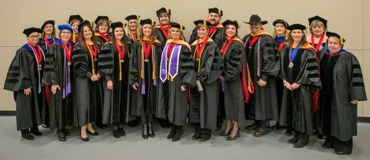 Pittsburg State's DNP program celebrated the achievements of its inaugural class of graduates in December of 2016.