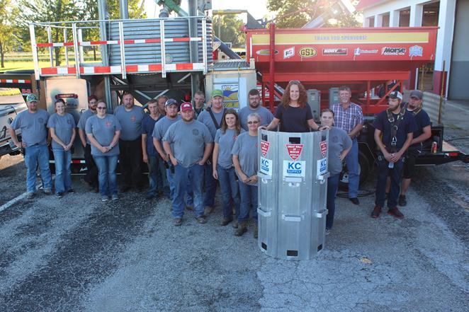 Jasper Fire Protection District with the grain bin rescue tube.