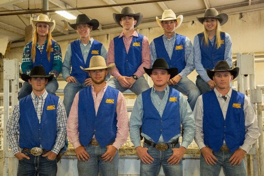 Top row from left: Shelby Hicks, Taylor Biggs, Ray Carlson, Ethan Griffin, Sage Keener. Bottom row from left: Stephen Richmond, Brady Hagler, Ben Piazza, Laramie Warren