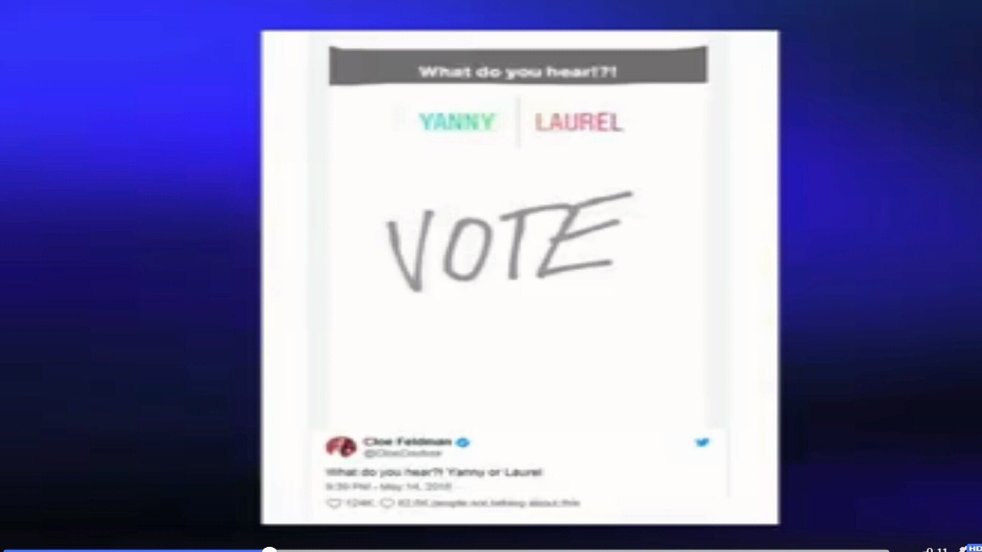Yanny or Laurel? It's the question dividing the internet
