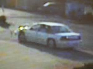 Police say the suspects vehicle is likely a 1995 to 1998 Oldsmobile model eighty-eight.