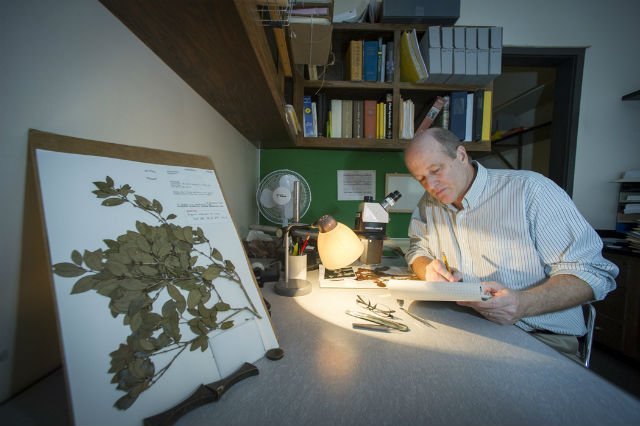 Dr. Neil Snow works in his office at PSU where he is member of the faculty in the Department of Biology.