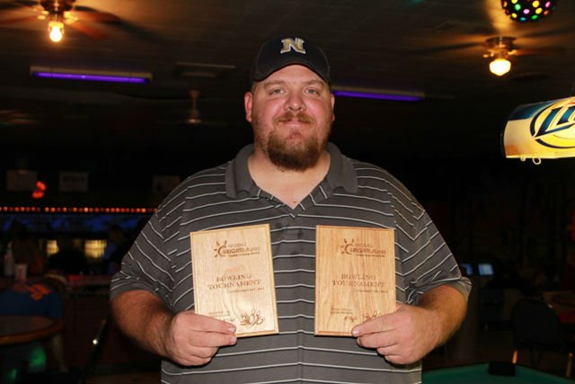 Stewart Pace won tournament individual high game (231) and individual high series (424).