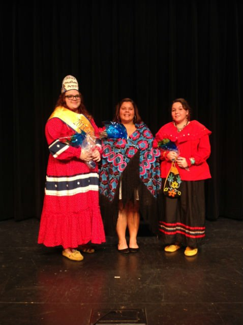 From left: Sarah Tanner, Miss Indian NEO, Erika Torres, first runner-up, and Shea Lynn Thornbrugh, second runner-up.