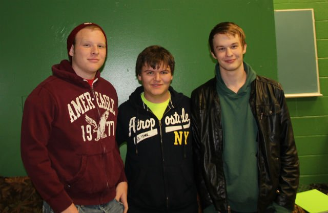 From left: Tyler Graham, Alex Warstler, and Chris Keithley. Unavailable for the photo was Britany Geidl.