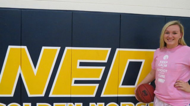 McKenize Solberg, sophomore for NEO set a new school record for 3pt. shots in a single game.