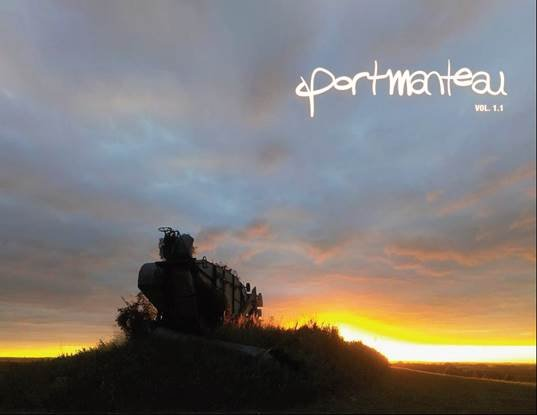 The cover of Portmanteau, a literature and art journal from NEO's English department