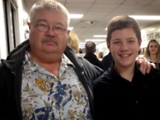 William Lewis Corporon, 69, and grandson Reat Griffin Underwood, 14.  Photo Credit: Corporon family