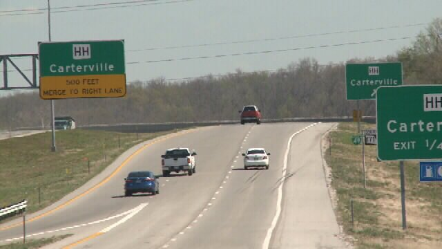 Adding distance to Carterville exit with new ramp
