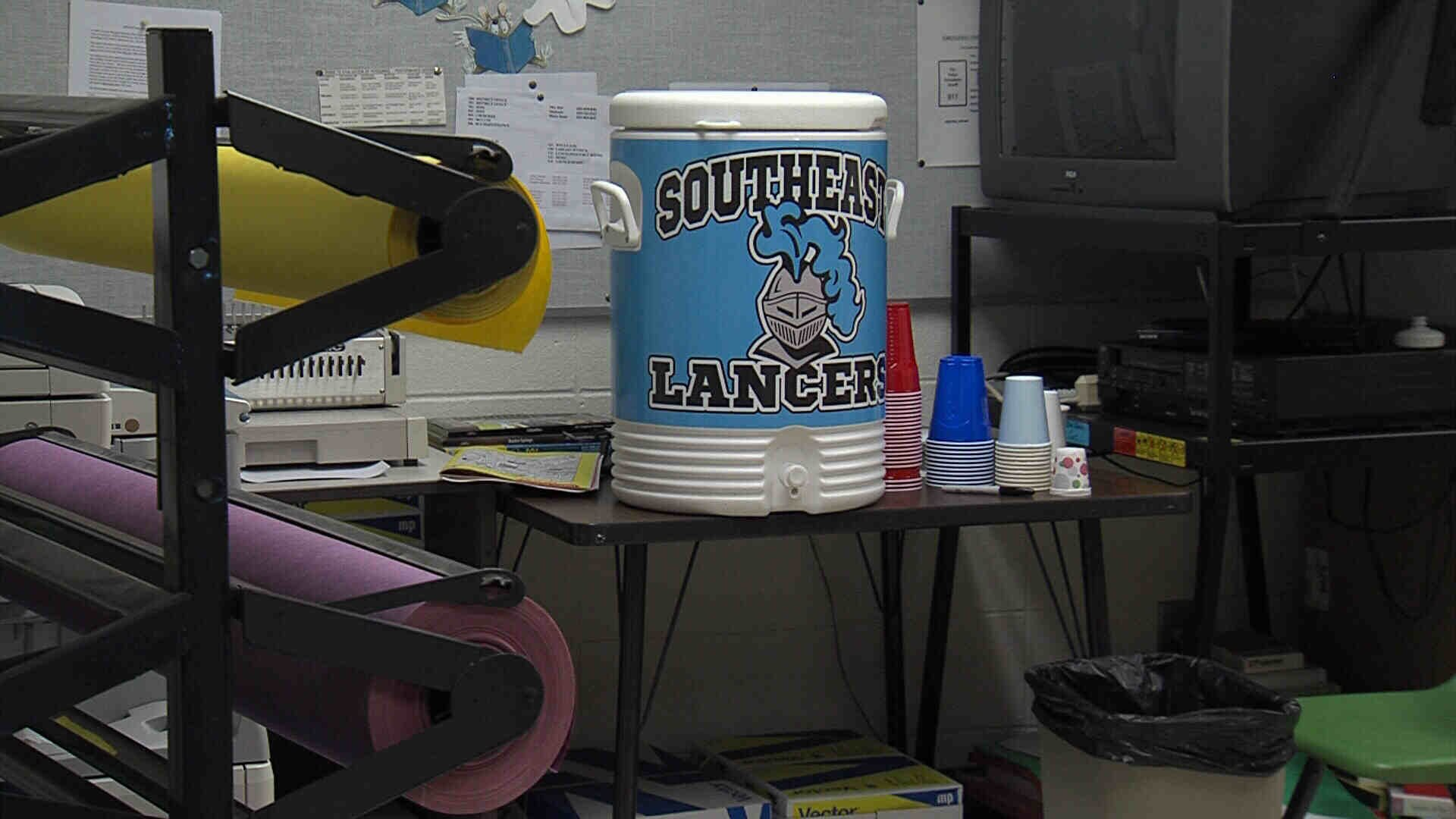 Water cooler for students.