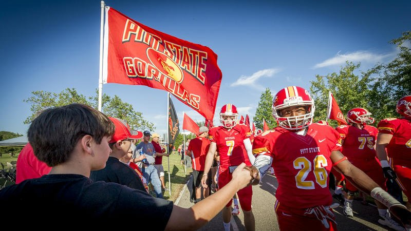 """Fans greet the Gorillas during """"the walk,"""" a pre-game tradition at every GorillaFest tailgate."""