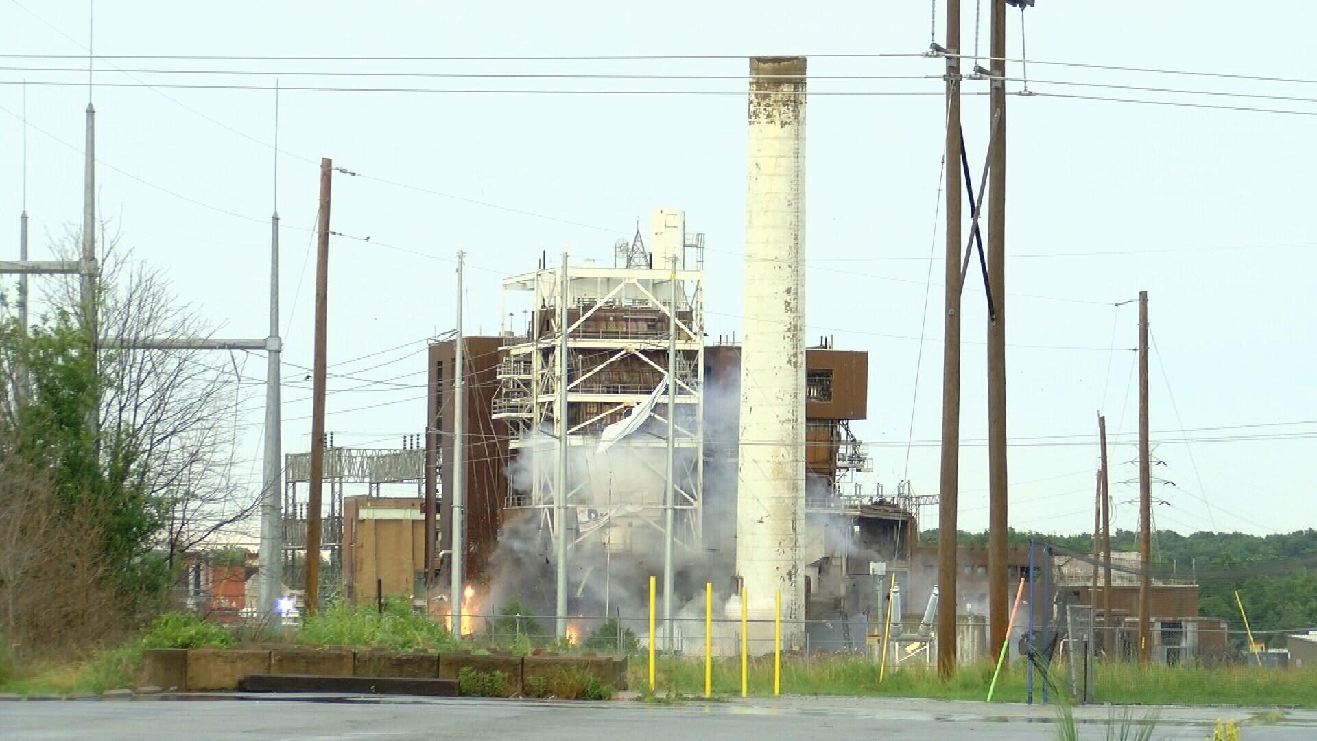 Riverton Power Plant Implosion KOAM TV 7