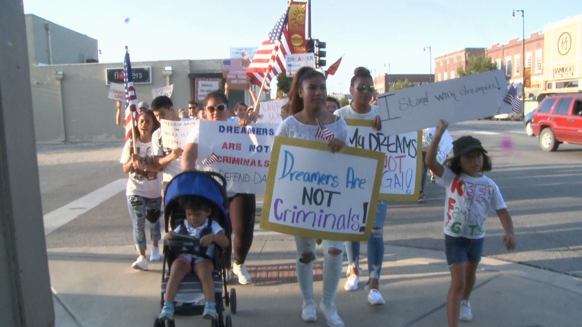 Residents in Pittsburg, Kansas came together to rally against President Trump's order rescinding the Deferred Action for Childhood Arrivals or DACA program.