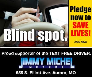 Pledge to be a text free driver koam tv 7 for Jimmy michel motors aurora mo