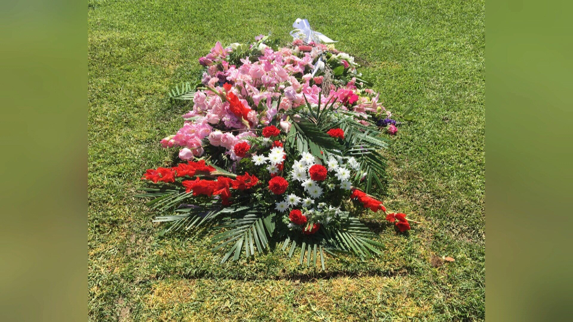 Dickens' current grave (Courtesy:  Orange County Register newspaper)