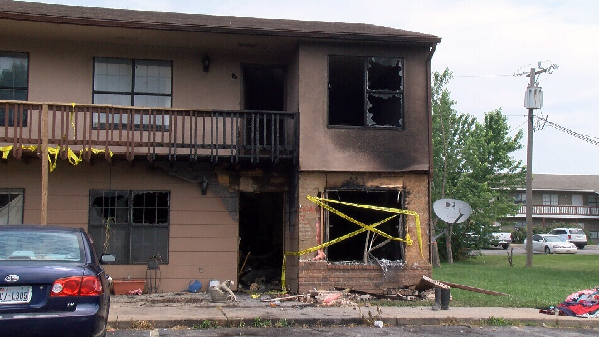 Apartment fire in Joplin, MO in May 2018