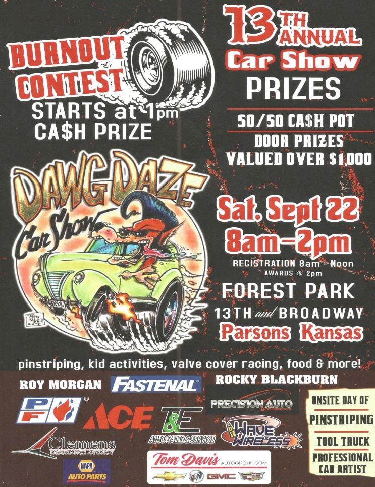 Th Annual Dawg Daze Car Show September KOAM TV - Pittsburg ca car show